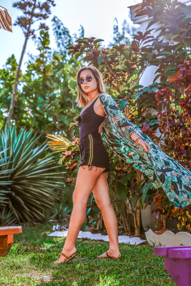 Kasey Ma of The StyleWright Calzedonia Indonesia One-Piece Balconette Stylish Swimsuit Tropical Outfit