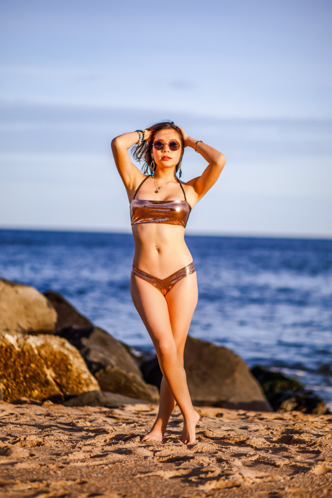 Kasey Ma of The StyleWright Wears Yandy The Mariah Metallic Bikini