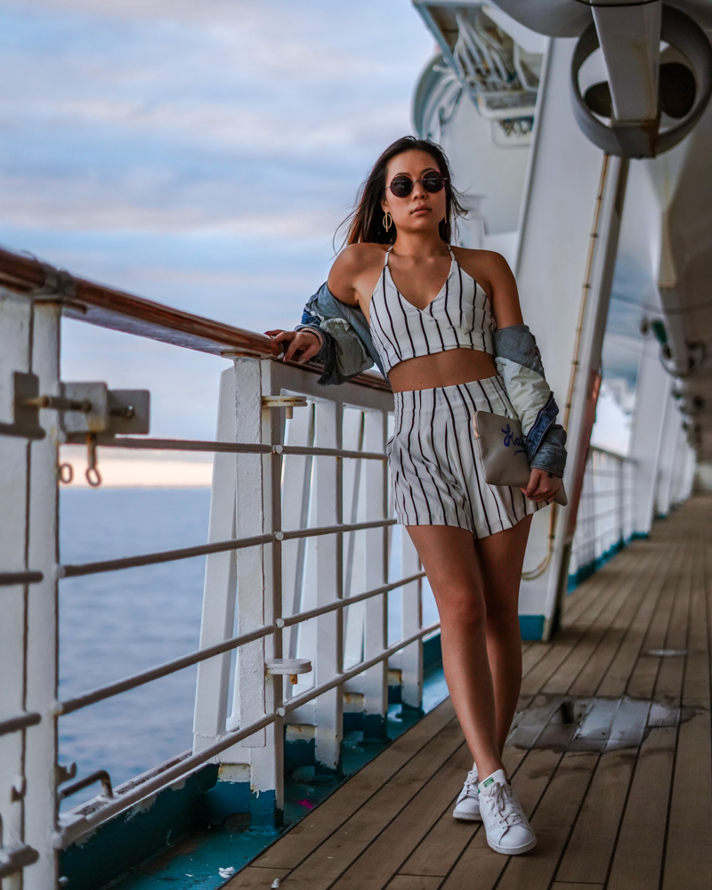 Kasey Ma of The StyleWright Shein Look for Bahama Cruise Stylish Swimwear