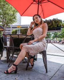 kasey ma of thestylewright wears an eliza j dress that is part of the nordstrom anniversary sale and talks about the correlation between clothing types and personality