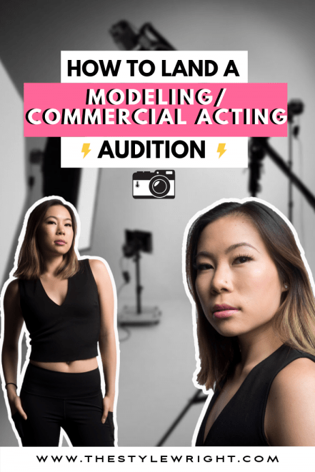 Kasey Ma of The Style Wright posing for two headshots for her latest Audition
