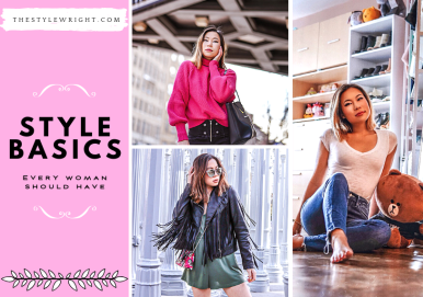 kasey ma of thestylewright talks about the style and fashion basics every woman should have in her closet