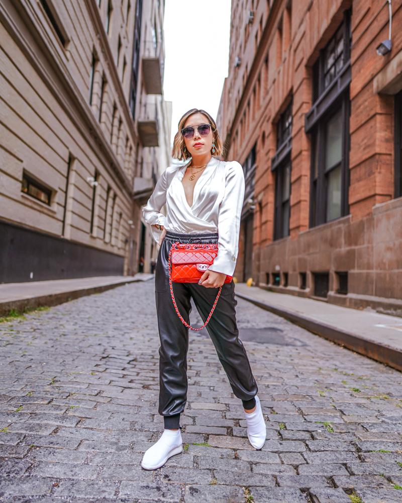 Kasey Ma in Elie Tahari full body for New York Fashion Week