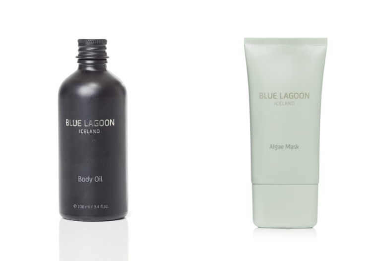 Blue Lagoon Body Oil and Algae Mask that Kasey is sending for her Beauty Giveaway