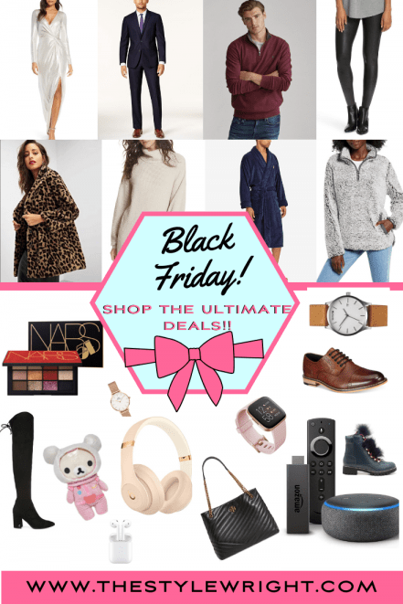 Black Friday 2019 Pinterest Graphic with pictures of the items Kasey picked out