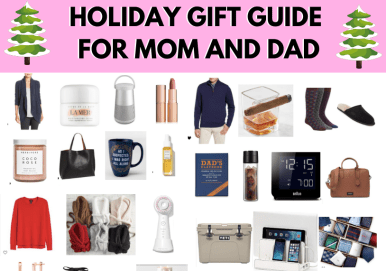 Gift Guide For Mom and Dad Blog graphic