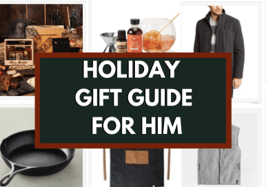 for him holiday gift guide blog graphic