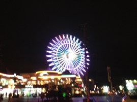 This ferris wheel is mesmerizing from afar and goes SO SLOW.