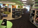 Walk into the library, enjoy the shape.