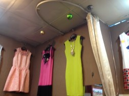 Do you see this dressing room? Hilarious yet quite useful little space to try on clothes. Hilarious.