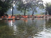 Rafts ready for people!