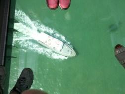 Gondola ride with glass bottom, fun way to travel!