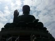 Front up close to big buddha.