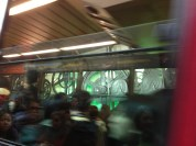 First time to ride the tram down....