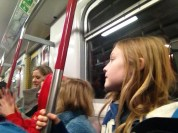 Riding the MTR to TST for dinner!