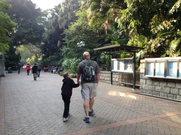 Heading into Hong Kong Kowloon Park in TST