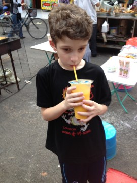 Kiddo loved his smoothie!