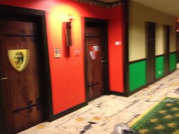 There's our hotel door! We're on the castle floor.