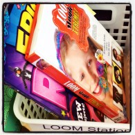 New loom station in the library.