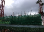 Construction up close.