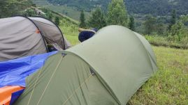 Husband's tent.