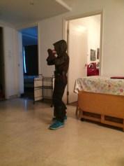 Kiddo getting ready for Halloween fun.
