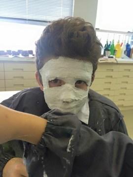 Mask making in progress