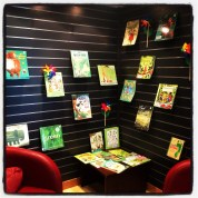 Springtime books in the library