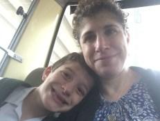Kiddo and I headed to school