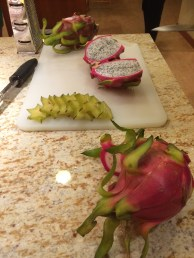 Dragon and star fruit at the Mother/Son book club meeting... lovely time there.