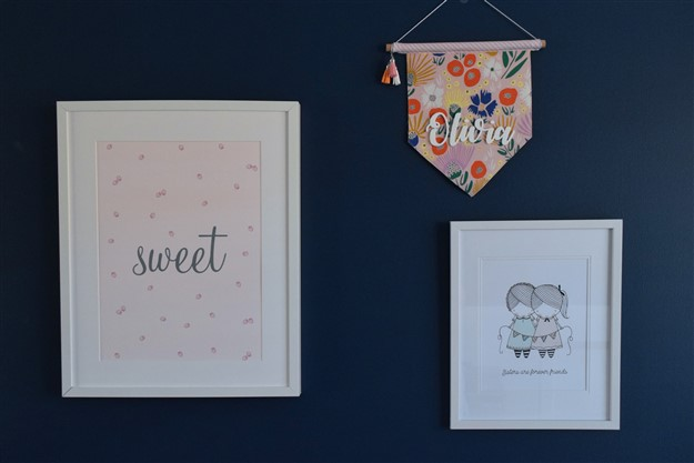 sprout and sparrow navy and blush