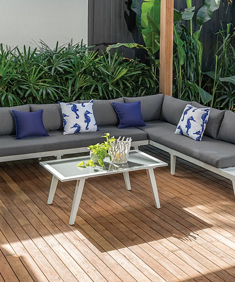 White outdoor sofa amart the styling mama