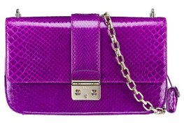 Dior Purple Python Miss Dior Bag