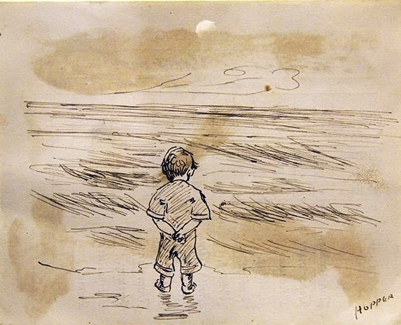 Boy Looking at the Sea