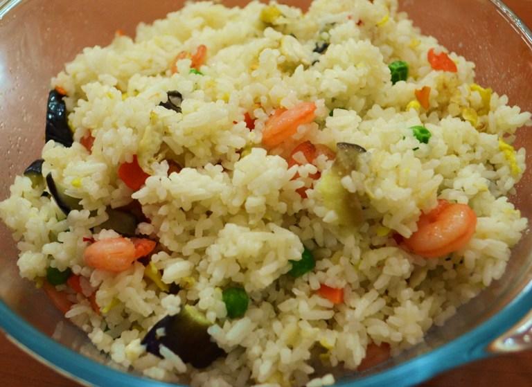 Shrimp and Aubergine Fried Rice