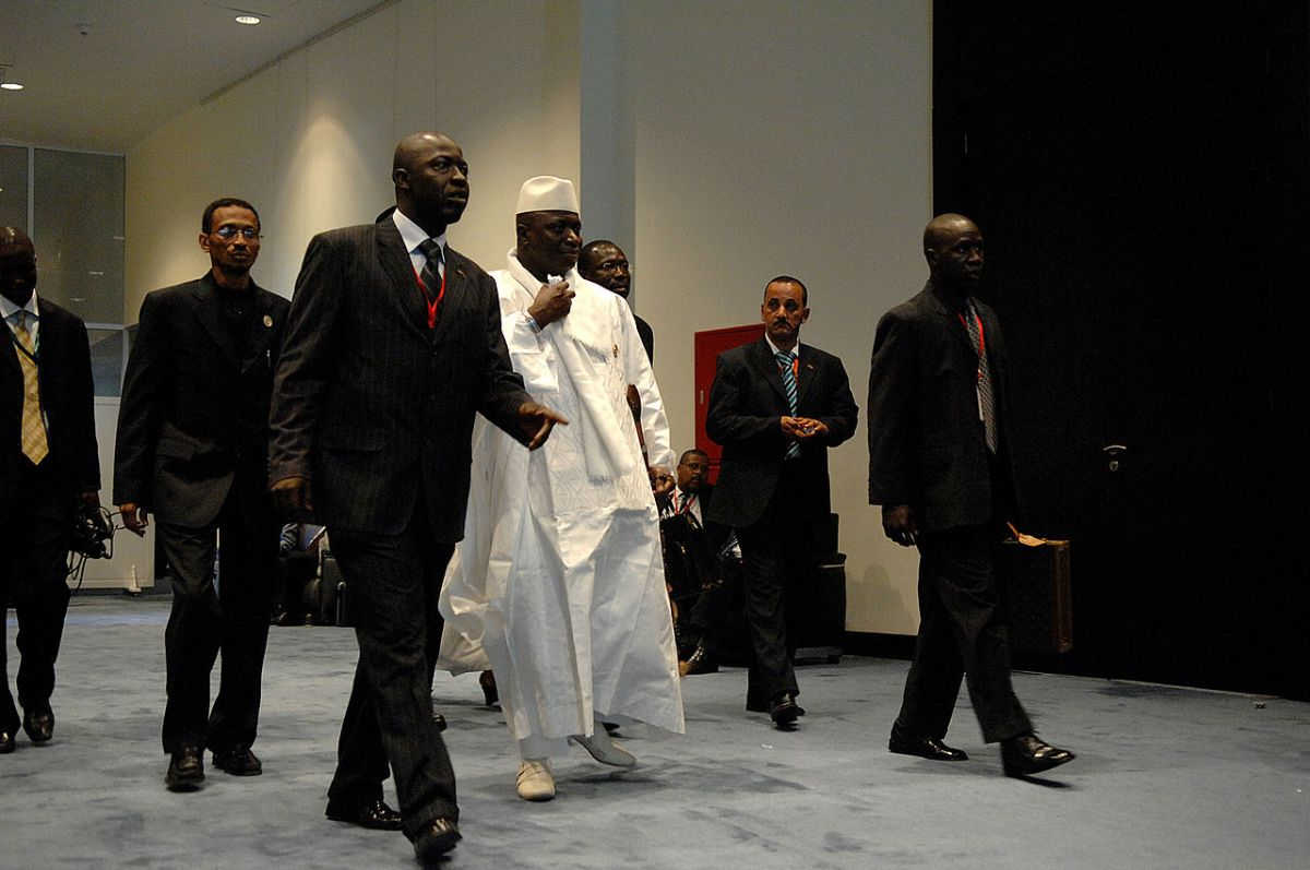 L'ormai ex—presidente Jammeh