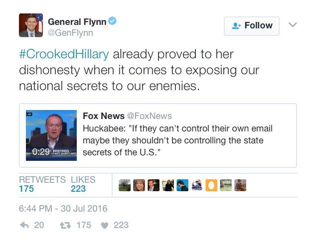 Hillary ha già provato la propria disonestà in fatto di esporre i nostri segreti nazionali ai nostri nemici
