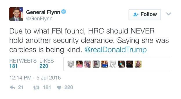 Considerato quello che ha scoperto l'FBI, HRC non dovrebbe MAI avere un'altra autorizzazione di sicurezza. Dire che fosse sbadata è essere gentili