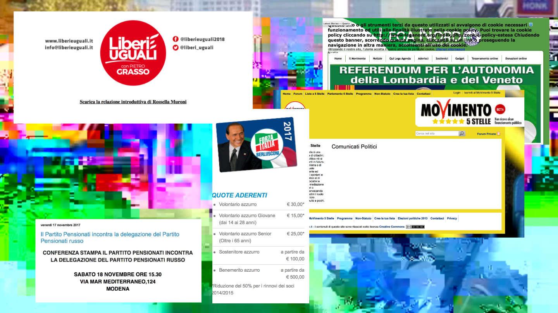 Abbiamo recensito i siti internet dei principali partiti italiani