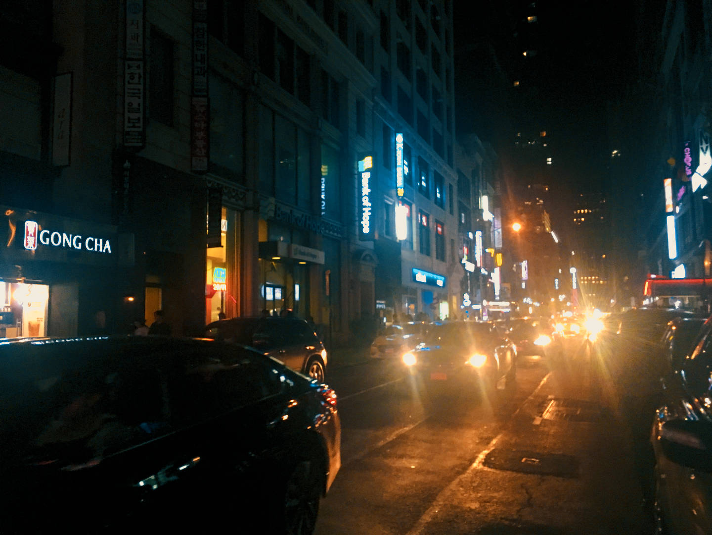 Alla ricerca di un karaoke a Koreatown, Manhattan
