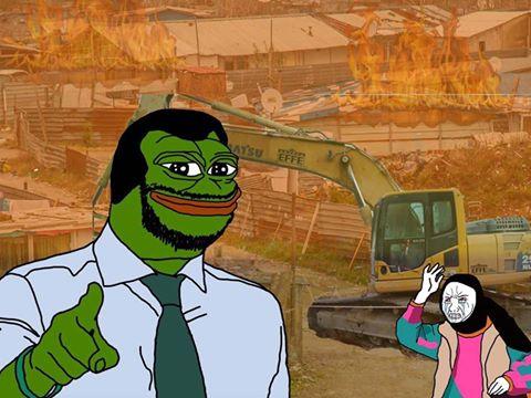 Salvini / Pepe the Frog. Un meme circolato su 8chan