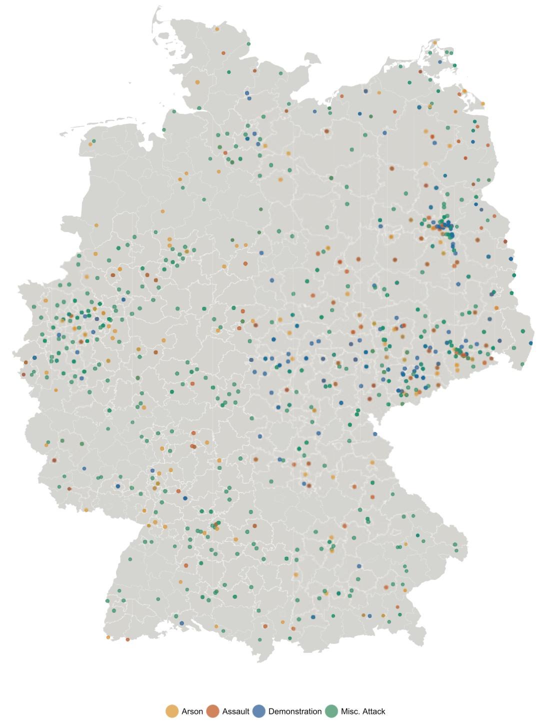 Refugees welcome? A dataset on anti-refugee violence in Germany, David Benček and Julia Strasheim