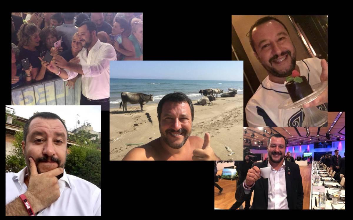 Il fitto impegno politico estivo di Matteo Salvini