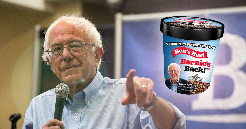 I fondatori di Ben & Jerry's hanno lanciato un gelato dedicato a Bernie Sanders