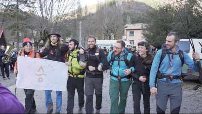 Il Team Va_ Sentiero arriva a Visso, 30.11.19