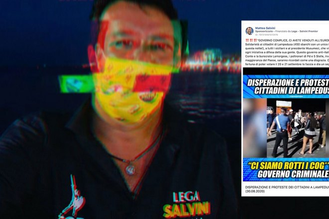 Come spera di vincere Salvini? Ovviamente facendo post razzisti su Facebook
