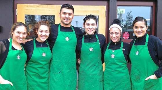 Starbucks Half Dozen - The Pritchards (left to right) Alyse, Krista, Tana, Keila, Dani and Jordan.