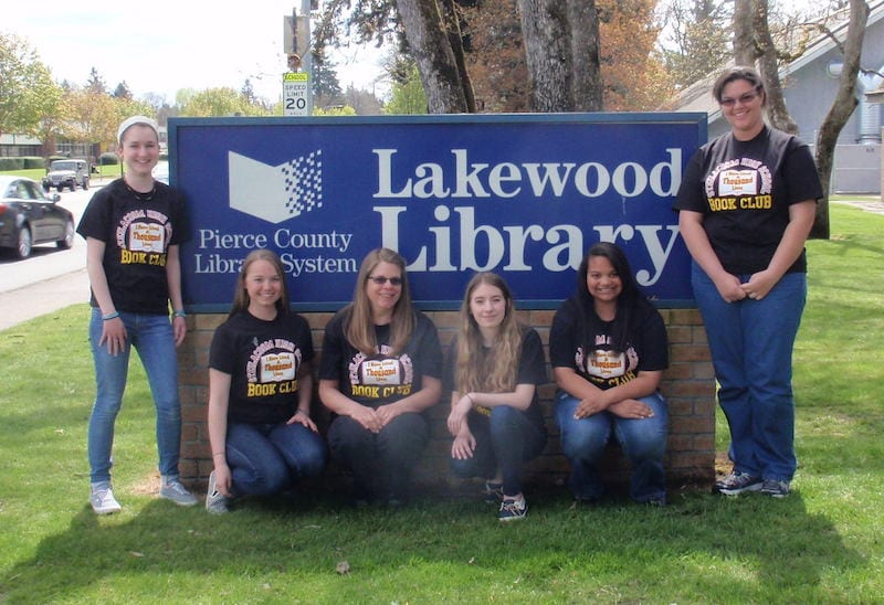 The Steilacoom team at the Lakewood Library. Photo courtesy of Steilacoom High School,