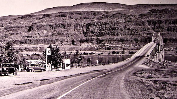 Washington State History Museum.  Vantage, Washington photo demonstrates roads need to last a long time.