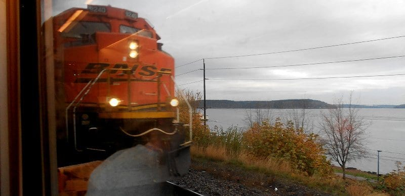 One of the Last Trains to Centralia with Puget Sound Views